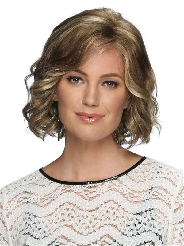 Short Violet Synthetic Lace Front Wig Basic Cap For Women
