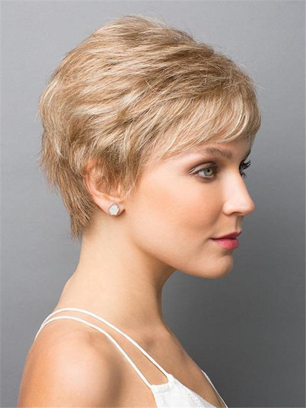 Short Straight Zoe Synthetic Wig Basic Cap For Women