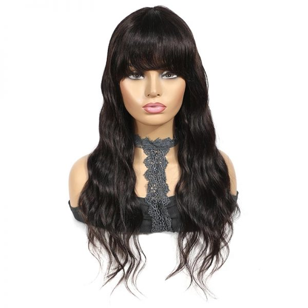 High Quality Women Long Wavy Basic Cap Human Hair Wig