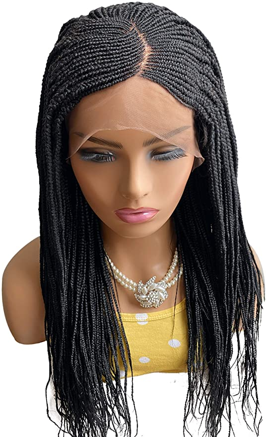 Fashion Black Long Braided Basic Cap Synthetic For Women Wig