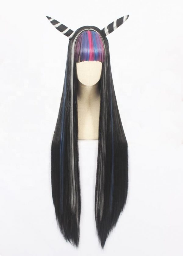 Low Price Women Black Long Straight Basic Cap Synthetic Wig