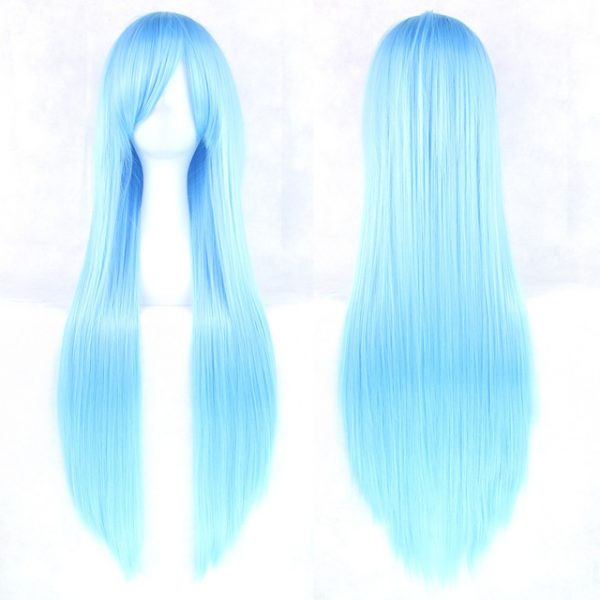 Fashion Gray Long Straight For Women Basic Cap Synthetic Wig