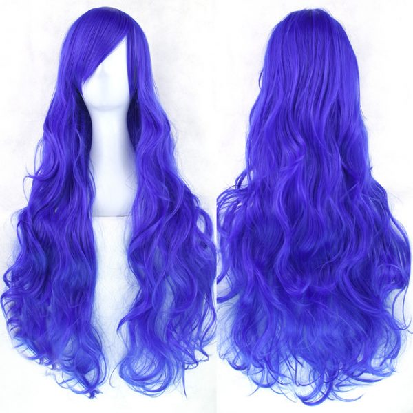 Popular Red Long Wavy Basic Cap Synthetic For Women Wig