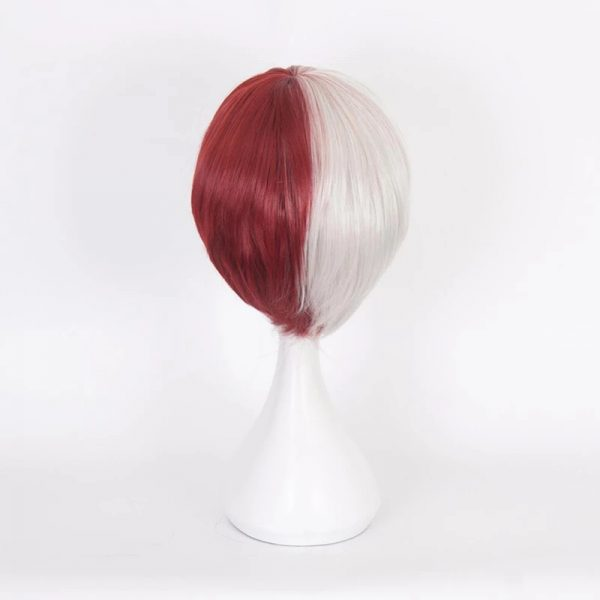 Fashion Red Short Straight Basic Cap Synthetic For Women Wig